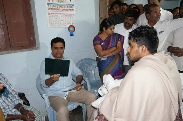 Minister KTR enquiring about health Condition of Babu