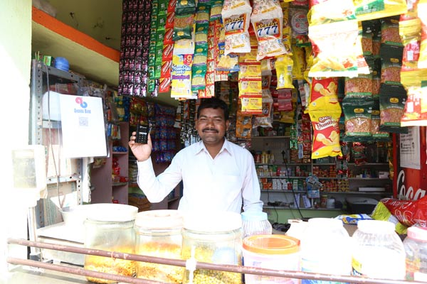 "Ramaswamy 38, Kirana Shop Owner, ""Sir buy a bingo and pay me online."""