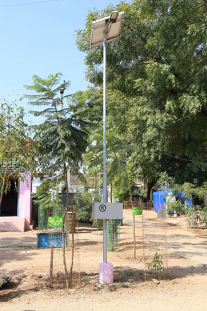 Solar Lamp – More than 200 Solar lamps have lit up the village.
