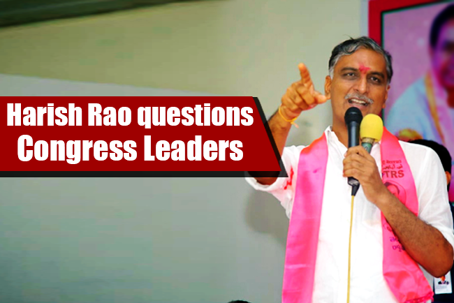 Harish Rao's salvos find Congress red-faced | | Mission Telangana